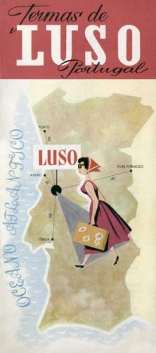 Figura 1 - PORTUGAL. Termas de Luso, [19--?]. Brochura, 23x10 cm. Colecção Biblioteca Celestino Domingues