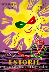 FIGURA 1 - Carnaval no Estoril, 1959. Cartaz (49x33 cm) da autoria do ilustrador Oskar.