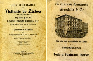 Figura 1 – Capa e contracapa do Guia itinerário do visitante de Lisboa / org. Armazéns Grandela. Lisboa: a Liberal, 1898