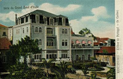 Figura 1 - PORTUGAL. Casino do Monte Estoril, [191-?]. Postal ilustrado, 11x15 cm. Colecção Biblioteca Celestino Domingues