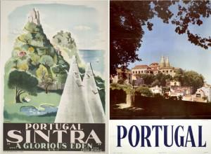 Figura 2 – Cartazes 100×63 cm editados pela Sociedade de Propaganda da Costa do Sol [1930] e DGT [1963], respetivamente. Cf. (Aurindo, 2006, p.181).