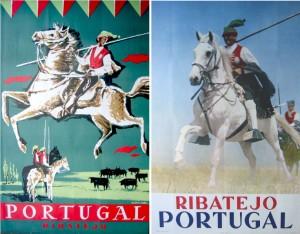 Figura 1 – Cartazes 100×63 cm editados pela Sociedade de Propaganda da Costa do Sol [1930] e DGT [1963], respetivamente. Cf. (Aurindo, 2006, p.181).