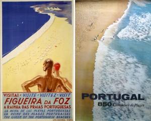 Figura 4 – Cartazes 100×63 cm editados pela Sociedade de Propaganda da Costa do Sol [1930] e DGT [1963], respetivamente. Cf. (Aurindo, 2006, p.181).