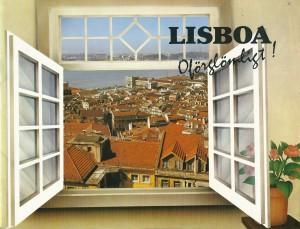 """Figura 1 - """"Lisboa inesquecível!"""" – brochura especial sobre a capital portuguesa, editada nas diferentes línguas nórdicas (1983)."""