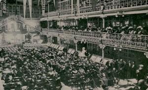 Figura 3 - Sessão de abertura do Congresso na Sala Portugal (Sociedade de Geografia e Lisboa). Ilustração Portuguesa, nº 274 (22 maio, 1911, p.650). Coleção Biblioteca Celestino Domingues