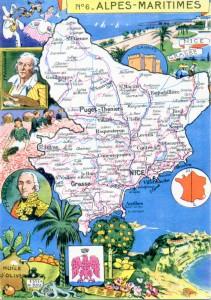 Figura 3- Postal ilustrado dos Alpes marítimos / Paris: Blondel la Rougery, 1945. Coleção Biblioteca Celestino Domingues